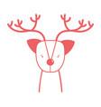 silhouette cute reindeer wildlife animal reserve vector image