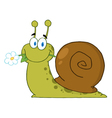 Snail with a flower in its mouth vector | Price: 1 Credit (USD $1)