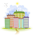 spring cute cityscape vector image vector image