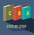 Step by Step Learning Concept vector image vector image