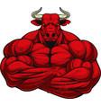 strong ferocious bull vector image