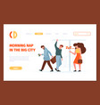 tired person landing stressed office people vector image vector image