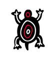 turtle icon aztec vector image vector image