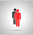 two mens silhouettes simple black icon with vector image vector image