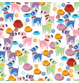 unusual seamless pattern with cute cartoon dogs vector image vector image