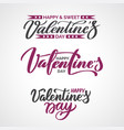 valentine day text set of calligraphic quotes vector image