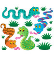 various snakes theme collection 1 vector image
