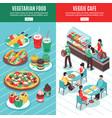 vegetarian isometric vertical banners vector image vector image