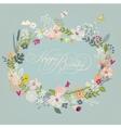 Vintage doodle floral wreath