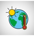 warming global environment concept icon vector image