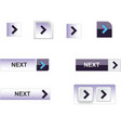 web buttons blue vector image vector image