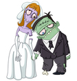 zombie wedding vector image vector image