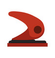 hole punch paper puncher icon office stationary vector image