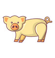 cute pig icon cartoon style vector image