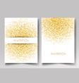 template design of invitation gold glitter vector image