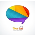 Modern banner Design template for text vector image