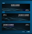 abstract technology web banner background 3d grid vector image vector image