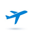 airplane icon in flat style vector image vector image