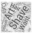 art of shaving Word Cloud Concept vector image vector image