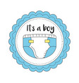 baby shower emblem to welcome a boy