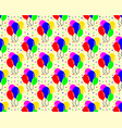 birthday pattern background shaped balloon vector image vector image