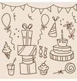 birthday sketches vector image vector image
