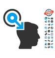 Brain Interface Plug-In Icon With Free Bonus vector image