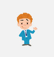 businessman waving with a dreamy expression vector image
