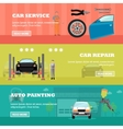 Car repair shop concept banners Auto vector image vector image
