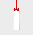 Cards with red gift bows and red ribbon vector image