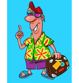 cartoon male tourist in bright clothes vector image vector image