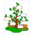 cartoon oak tree vector image vector image