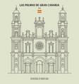 cathedral in las palmas de gran canaria vector image vector image