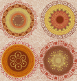 Colored mandalas drawn by hand vector image vector image