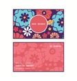 colorful bouquet flowers vertical round vector image vector image