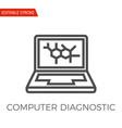 computer diagnostic icon vector image vector image