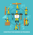 construction worker concept vector image vector image
