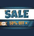 denim sale promotional fashion blue jeans vector image
