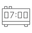 digital clock thin line icon electronic digital vector image vector image