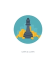 Flat chess figures Strategy concept background vector image vector image