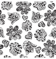 Floral doodle pattern vector image vector image