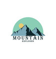 forest mountain adventure logo explorer badge vector image vector image