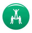happy teamwork icon green vector image vector image