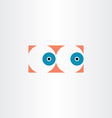 human eyes icon sign vector image