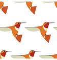 humming bird seamless pattern vector image