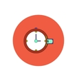 in flat design of time is vector image vector image