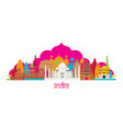 india architecture landmarks skyline vector image