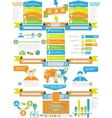 INFOGRAPHIC DEMOGRAPHICS BUSINESS TOY vector image vector image
