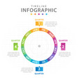 infographic template for business modern timeline vector image vector image