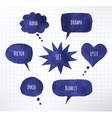 ink speech bubbles vector image vector image